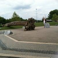 Photo taken at Locust Point Dog Park by Ileana P. on 8/25/2012