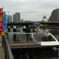 Photo taken at 船カフェ@豊洲運河 by Shintaro O. on 4/21/2012