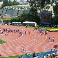 Photo taken at UCLA Drake Track & Field Stadium by Kevin C. on 4/29/2012