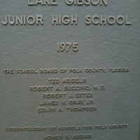 Photo taken at Lake Gibson Middle School by Nicole R. on 11/17/2011