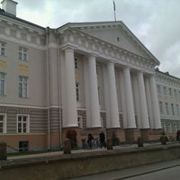 Photo taken at University of Tartu main building by Aivar R. on 10/8/2011