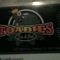 Photo taken at Toadies Bar and Grill by Marlena H. on 9/26/2011