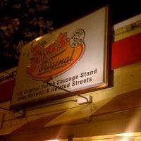 """Photo taken at Jim's Original Hot Dog by Ryan """"Gio"""" H. on 9/7/2011"""