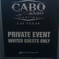Photo taken at Cabo Wabo Cantina by Rob G. on 1/1/2012