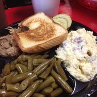 Photo taken at Bradley's Bar-B-Que by Aaron W. on 8/30/2012