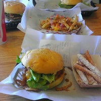 Photo taken at Brown Bag Burgers by Nick R. on 2/9/2012
