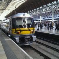 Photo taken at Heathrow Express Train - Paddington [PAD] to Heathrow [HXX] by sss on 9/19/2011
