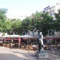Photo taken at Place Jean Jaurès by Longboard34 D. on 8/22/2012
