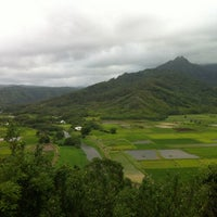 Photo taken at Hanalei Valley Lookout by Jim R. on 7/6/2012