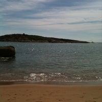 Photo taken at Praia da Direita by Camila A. on 12/26/2011
