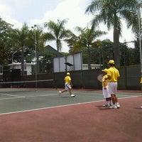 Photo taken at lapangan tenis kodiklat TNI AD by Ryan M. on 2/26/2012