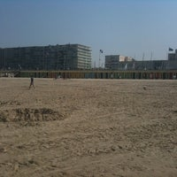 Photo taken at Beach Huts - Le Touquet Plage by Alan J. on 4/25/2011