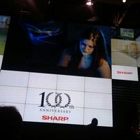 Photo taken at The Sharp Electronics Booth # 10916 by Di R. on 1/12/2012