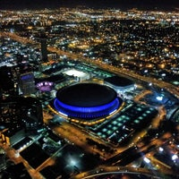 Photo taken at City of New Orleans by The DIRECTV Blimp on 1/5/2012
