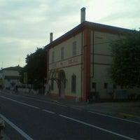 Photo taken at Teatro Socjale Piangipane by Alessandro B. on 9/22/2011