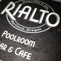 Photo taken at Rialto Poolroom Bar & Cafe by John C. on 5/26/2012