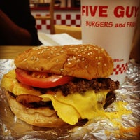 Photo taken at Five Guys by Yassine L. on 8/28/2012