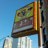 Photo taken at The Wiener's Circle by Jessica M. on 10/15/2011