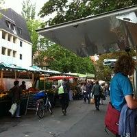 Photo taken at Wochenmarkt by Sally C. on 8/13/2011