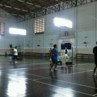Photo taken at Badminton Court @ Land Development Department by Anok B. on 3/26/2011