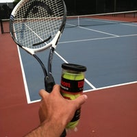 Photo taken at Campbell Community Center Tennis Courts by Jerett B. on 7/28/2012
