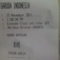Photo taken at Garuda Indonesia Danareksa by Aina D. on 11/15/2011