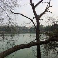 Photo taken at Hauz Khas Lake by Ivo V. on 2/26/2011