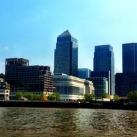 Photo taken at Canary Wharf Pier by Just M. on 5/29/2012