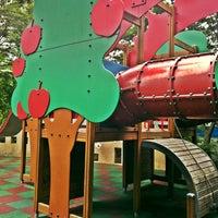 Photo taken at Apple Tree Playground by Kate K. on 9/11/2011