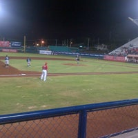 Photo taken at Estadio Nelson Barrera Romellón by Chata C. on 7/16/2012