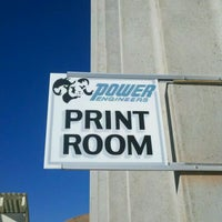 Photo taken at Print Room @ POWER by Kira on 9/21/2011