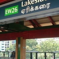 Photo taken at Lakeside MRT Station (EW26) by Vinay W. on 6/21/2011