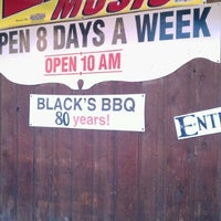 Photo taken at Black's Barbecue by Alex H. on 12/26/2011