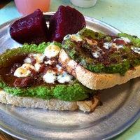 Photo taken at Open Face Sandwich Eatery by Tara on 5/9/2012
