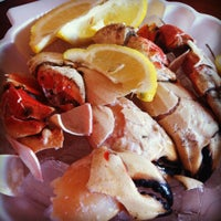 Photo taken at Monty's Fish and Stone Crab Restaurants by Karen O_o on 5/21/2012
