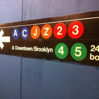 Photo taken at MTA Subway - Fulton St (A/C/J/Z/2/3/4/5) by Brian S. on 4/29/2011