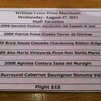 Photo taken at William Cross Wine Merchant by Thaddeus V. on 8/18/2011