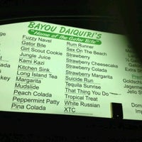 Photo taken at Bayou Daiquiris by Eric S. on 4/15/2012