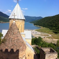 Photo taken at Ananuri Castle Complex by Julia F. on 7/22/2012