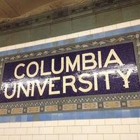 Photo taken at MTA Subway - 116th St/Columbia University (1) by Manuel B. on 2/15/2012