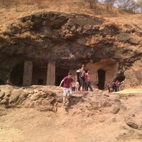 Photo taken at Elephanta Caves by James K. on 2/12/2012