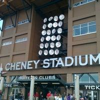 Photo taken at Cheney Stadium by Greg on 8/15/2011