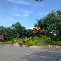 Photo taken at ศาลสมเด็จพระนเรศวรมหาราช หนองบัวลำภู by Ap.nopphasul on 8/28/2012