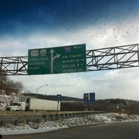 Photo taken at PA Turnpike - New Stanton Exit by Alison B. on 12/27/2010