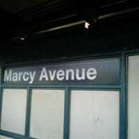 Photo taken at MTA Subway - Marcy Ave (J/M/Z) by Cesar Garnier on 10/4/2011