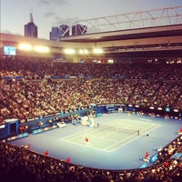 Photo taken at Rod Laver Arena by Christian R. on 1/26/2012