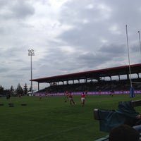 Photo taken at Matmut Stadium by LOU Rugby R. on 5/12/2012