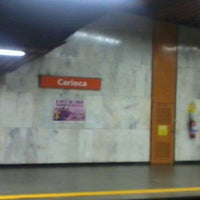 Photo taken at MetrôRio - Estação Carioca by Marcio R. on 6/18/2012