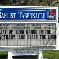 Photo taken at Baptist Tabernacle Church by Johnny M. on 4/2/2012
