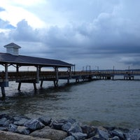 Photo taken at St. Simons Island Pier by Rice_with_a_T on 8/7/2012